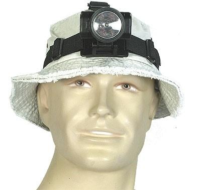 3-LED Kopflampe Wasserdicht Schwarz