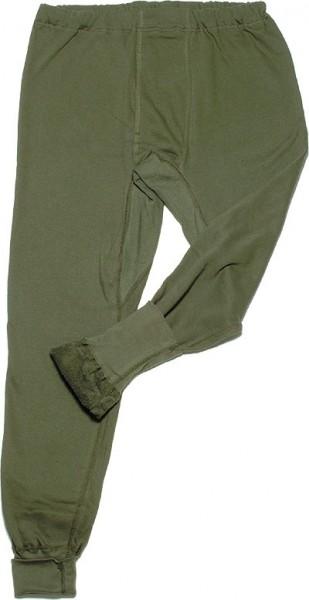 BW Winter Unterhose Plüsch Gebraucht Oliv