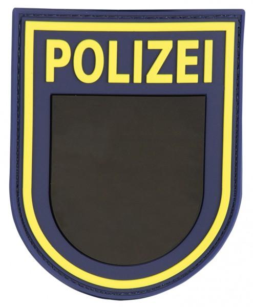 3D Ärmelabzeichen Polizei Sachsen (Blau)