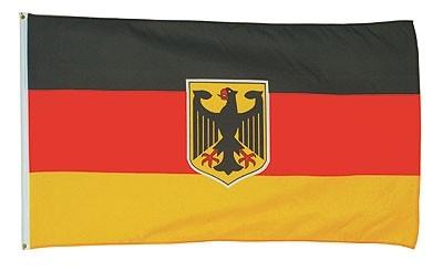 Flagge Bundesrepublik Deutschland mit Adler