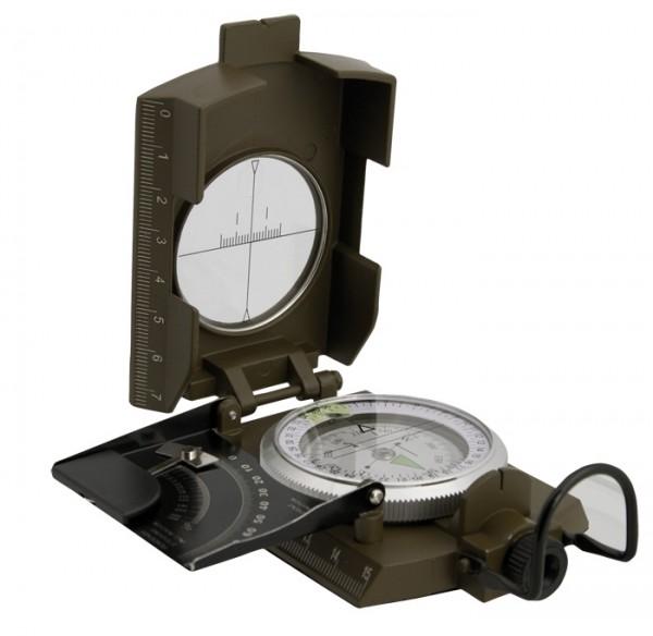 Ital. Kompass Metall Oliv