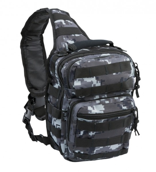 One Strap Assault Pack Small Black Digitial