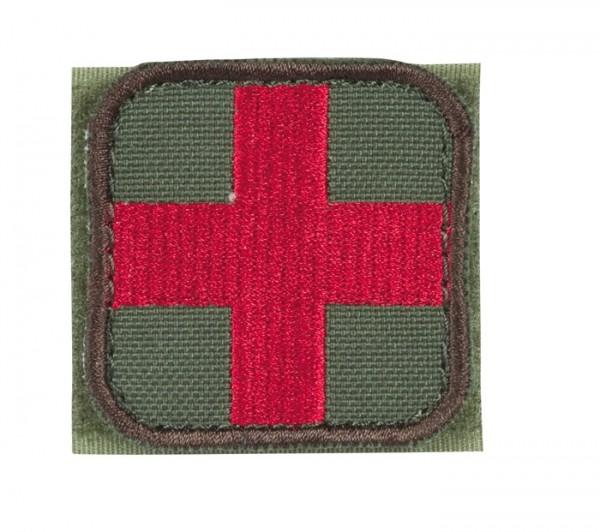 Medic Kreuz Oliv/Rot mit Klett 6er Pack