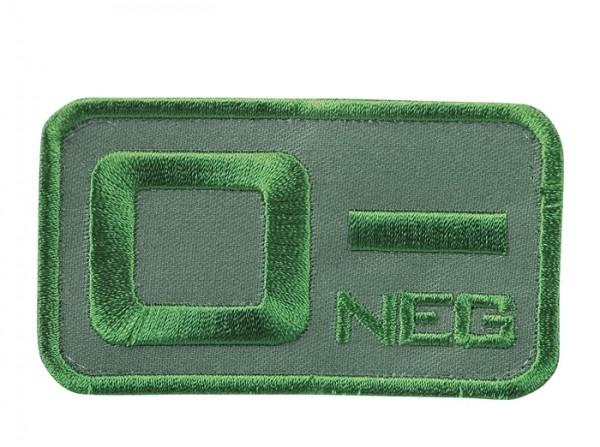 Blutgruppenkennzeichnung Oliv 0 neg -