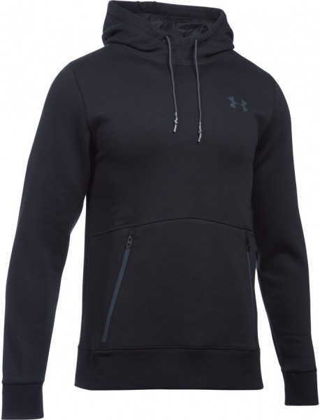 Under Armour Hoodie Varsity Charged Cotton Schwarz