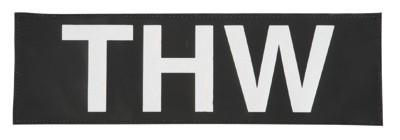 Reflektierender Schriftzug Groß mit Klett THW