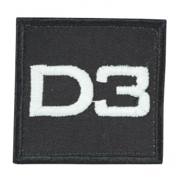 Truppkennzeichnung Schwarz mit Klett D3