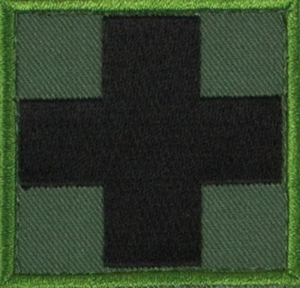 Medic Kreuz Oliv/Schwarz mit Klett Groß
