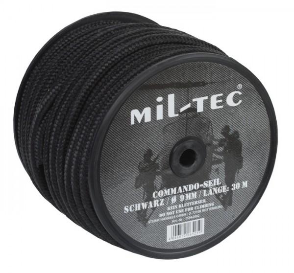 Commando Seil 9 mm Schwarz - 30 Meter Rolle