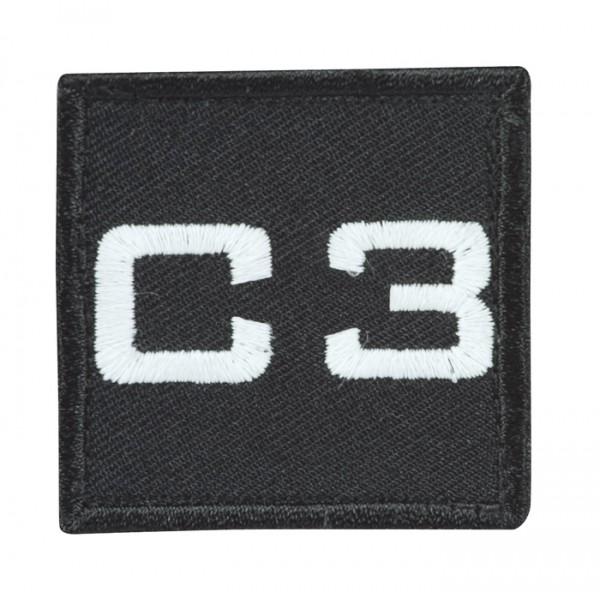 Truppkennzeichnung Schwarz mit Klett C3