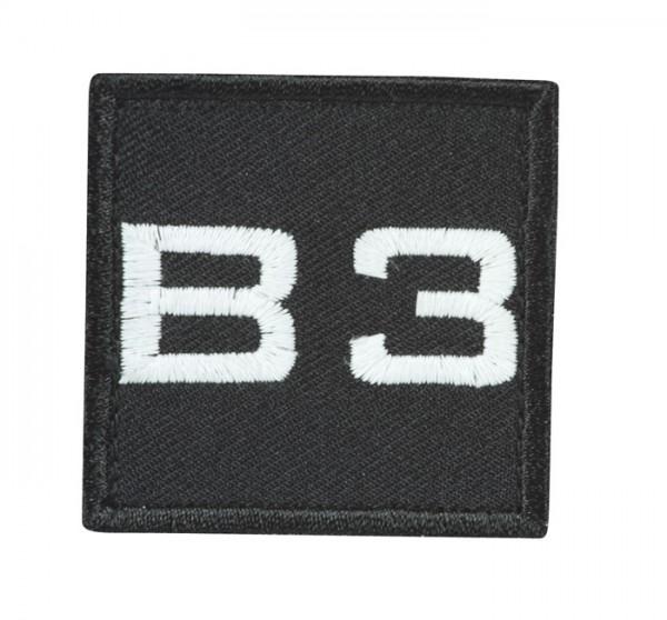 Truppkennzeichnung Schwarz mit Klett B3