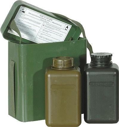 BW Kunststofftragebox m. 2 Kst.Flaschen Neuwertig