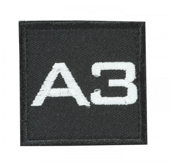 Truppkennzeichnung Schwarz mit Klett A3