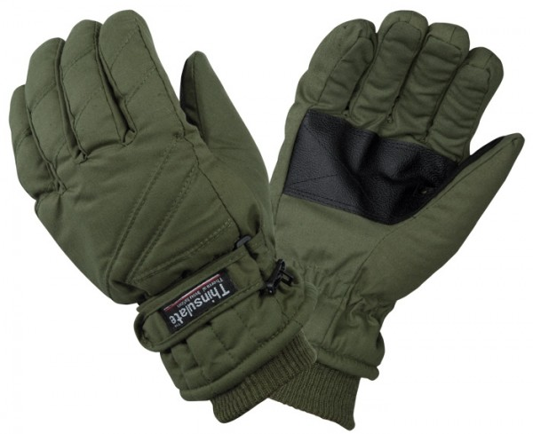 Thermo Handschuhe mit Thinsulate Futter Oliv