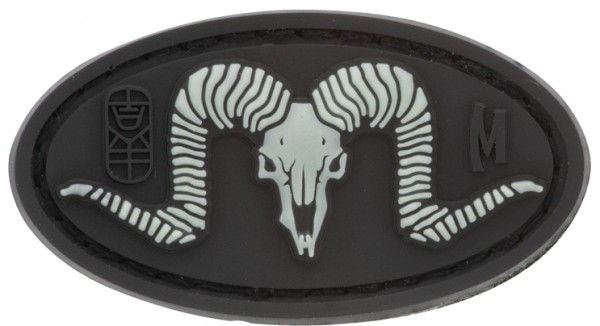 Maxpedition Rubber Patch RAM SKULL Glow