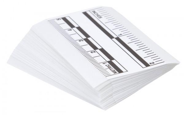 Forensik Beweisfoto Maßstab 5 cm (50er Pack)