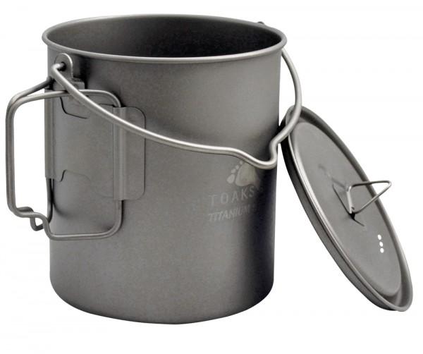 Toaks Titanium Pot 750 ml mit Deckel und Henkel