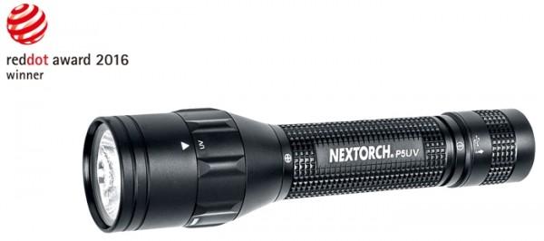 Nextorch Taschenlampe P5 Dual-Light UV Weiß