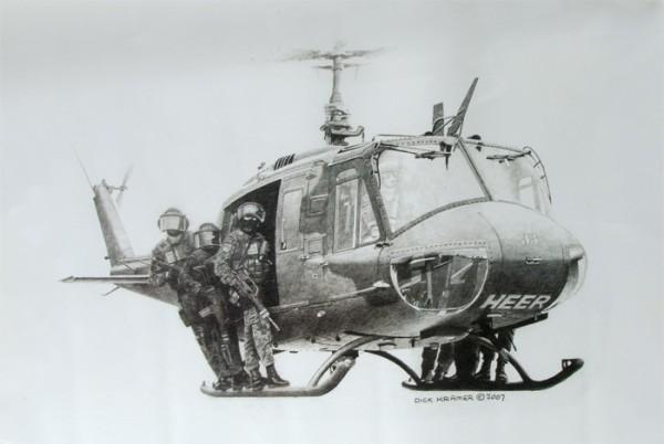 "Dick Kramer Lithografie ""German Military Police"""