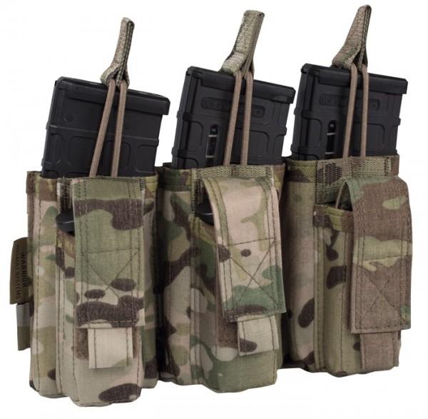 Warrior Elite Ops Triple Open M4 & 9mm Mag Pouches Multicam