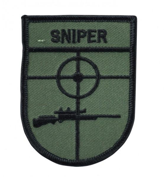 Abzeichen Textil Sniper Oliv/Schwarz