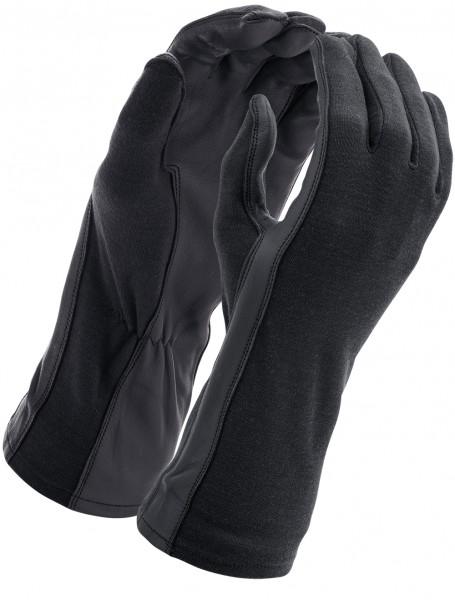 Piloten Handschuhe Nomex Schwarz