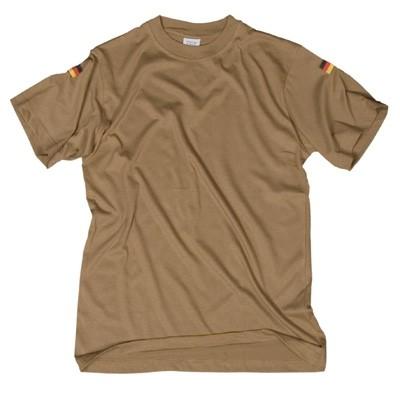 T-Shirt mit Nationalitätsabzeichen Sand