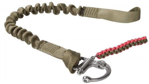 Sicherungsleine mit 1 Snap Shackle Coyote