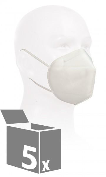 KN95 Maske mit elastischen Bändern 5er Set