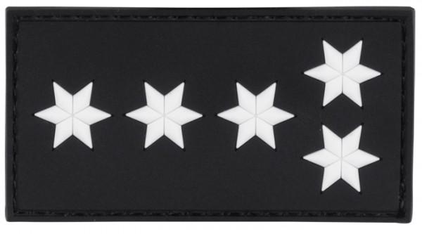 3D Dienstgradabzeichen Erster Polizeihauptkommissar (5 Stern, weiss)