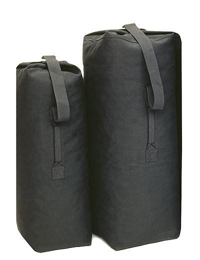 Seesack US Baumwolle Standard Schwarz Medium
