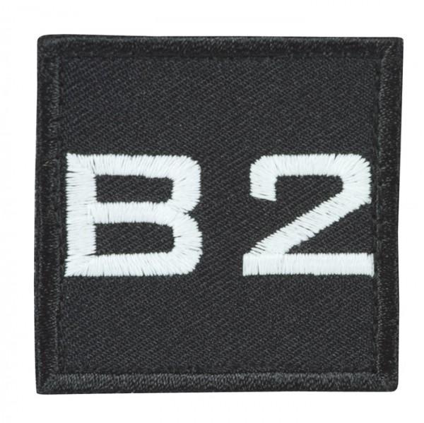 Truppkennzeichnung Schwarz mit Klett B2