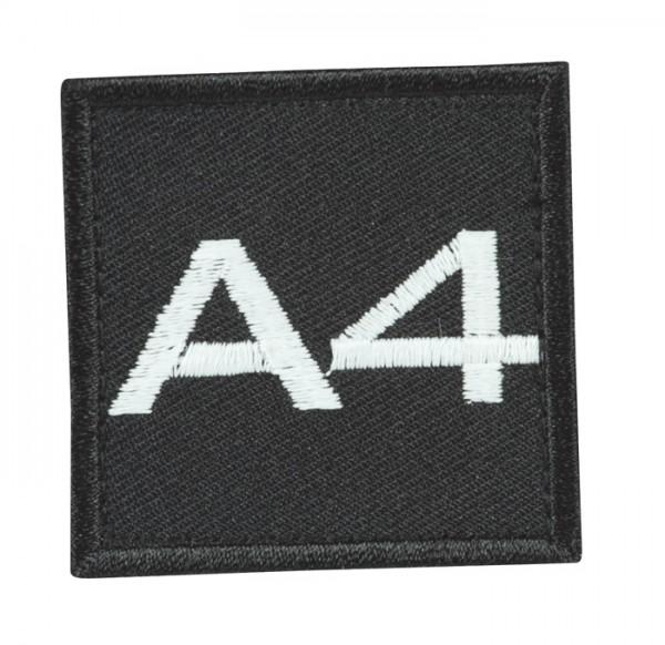 Truppkennzeichnung Schwarz mit Klett A4