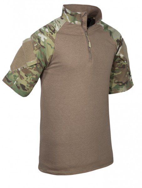 TRU-SPEC 1/4 Zip Combat Shirt Kurzarm Multicam