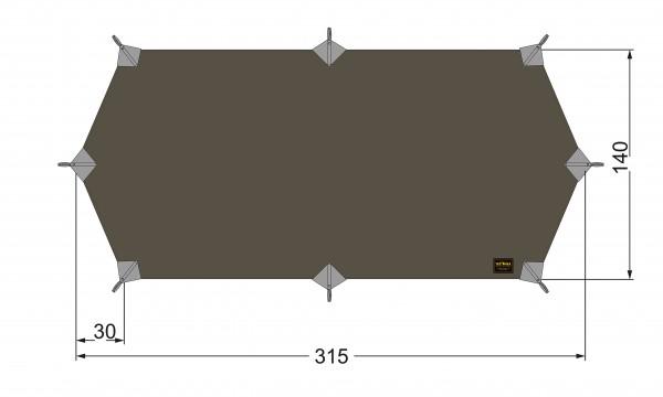Tatonka Tarp Wing 1 LT Ultraleicht 315 x 140 cm