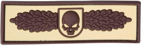 3D Rubber Patch SOF Skull Badge Desert