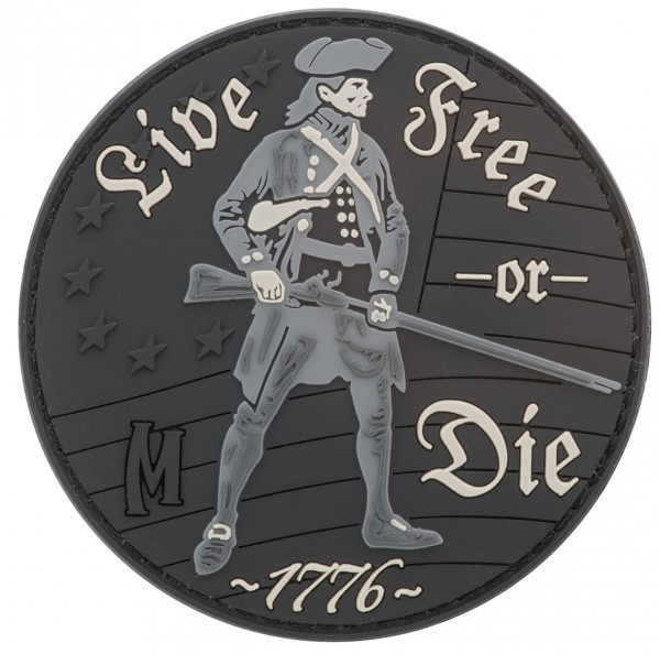 Maxpedition Rubber Patch LIVE FREE OR DIE Swat