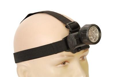 Kopflampe mit 12 LED´s Schwarz