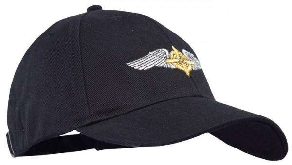 Baseball Cap Schwarz Army Airforce WWII Propeller