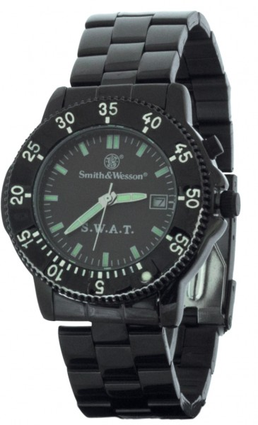 Smith & Wesson SWAT Uhr mit Edelstahlarmband