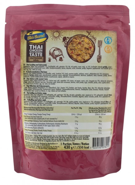 Bla Band Outdoor Meal Wet Pouch - Thai Chicken