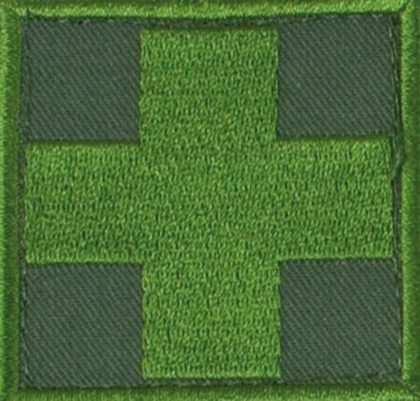 Medic Kreuz Oliv/Oliv mit Klett Groß
