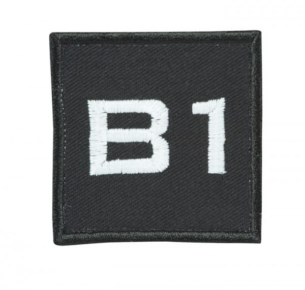 Truppkennzeichnung Schwarz mit Klett B1