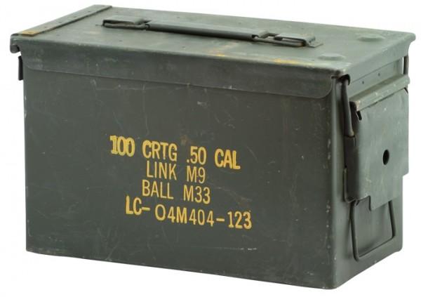 US Munitionskiste Metall Mittel Gebr.