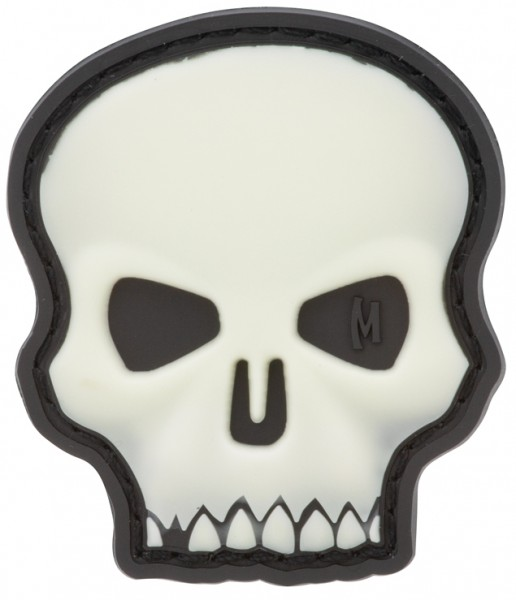 Maxpedition Rubber Patch HI RELIEF SKULL Glow