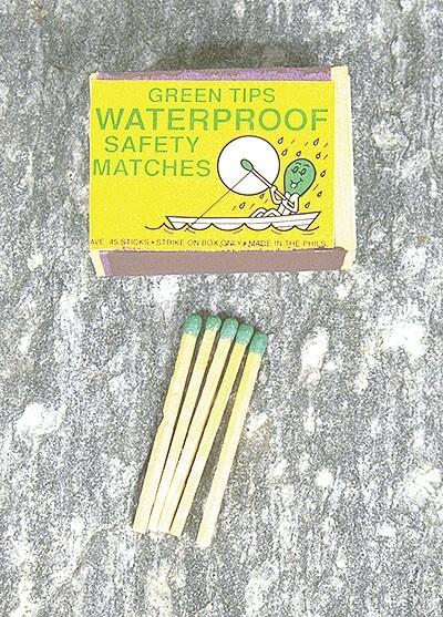 Sturmstreichhölzer Wasserfest Greenlites 10-er Pack