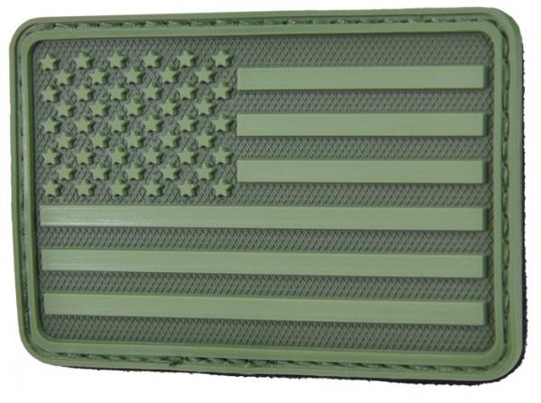 Hazard 4 Rubber Patch USA 75 x 50 Oliv