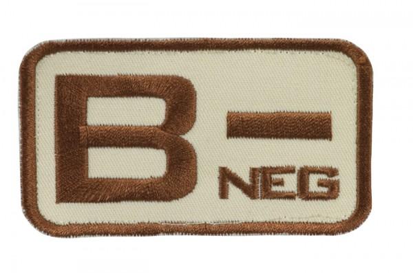 Blutgruppenkennzeichnung Sand/Braun B neg -
