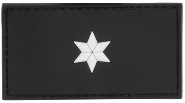 3D Dienstgradabzeichen Polizeikommissar (1 Stern, weiss)