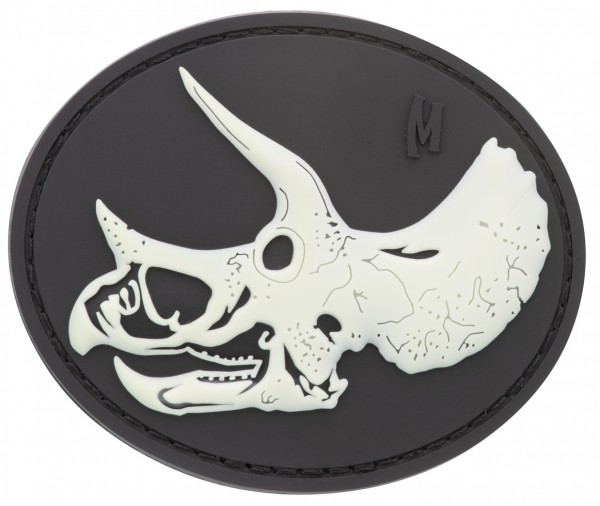 Maxpedition Rubber Patch TRICERATOPS SKULL Glow